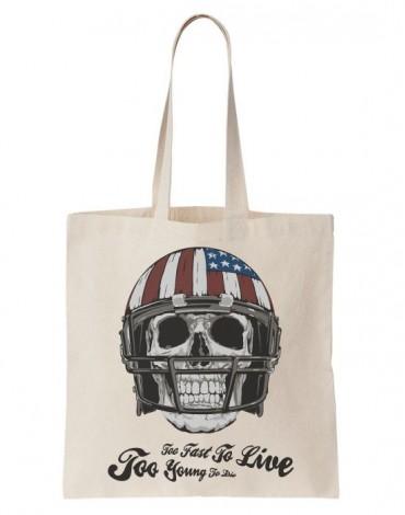 Tote Bag American Football Skull