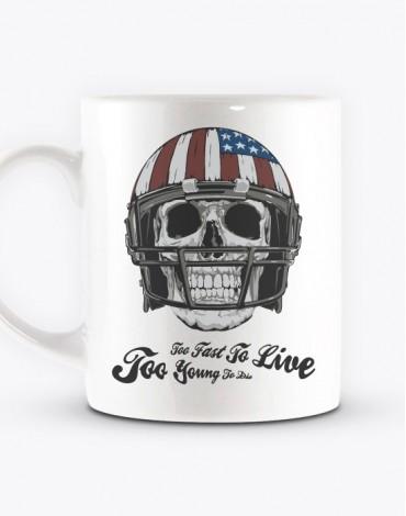 Mug American Football Skull