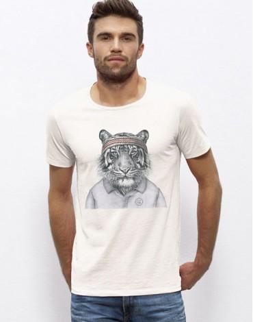 Large Neck T-Shirt Tigre