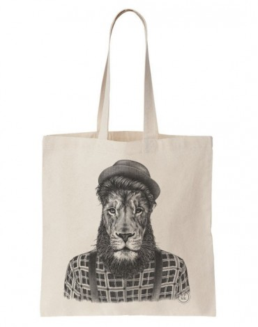 Tote Bag Lion Hipster