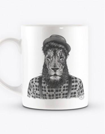 Mug Lion Hipster