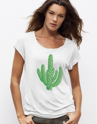 T-Shirt Col Bateau Cactus