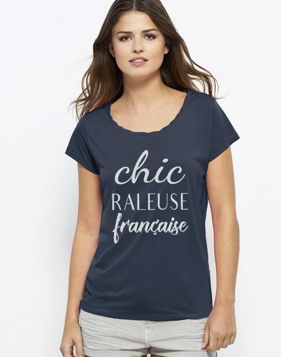 T-Shirt Col Bateau Chic Raleuse Française