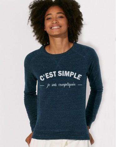 Sweat-Shirt Je Suis Compliquée