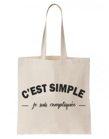Tote Bag Je Suis Compliquée