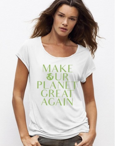 T-Shirt Col Bateau Make Our Planet