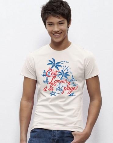 T-Shirt C'est L'amour A La Plage