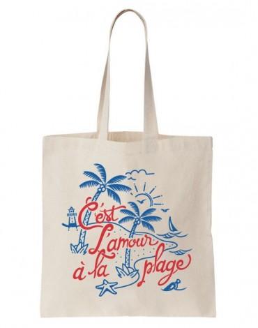 Tote Bag C'est L'amour A La Plage