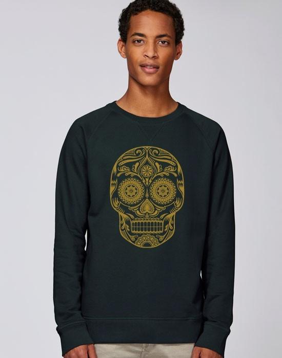 Sweat-Shirt Golden Skull