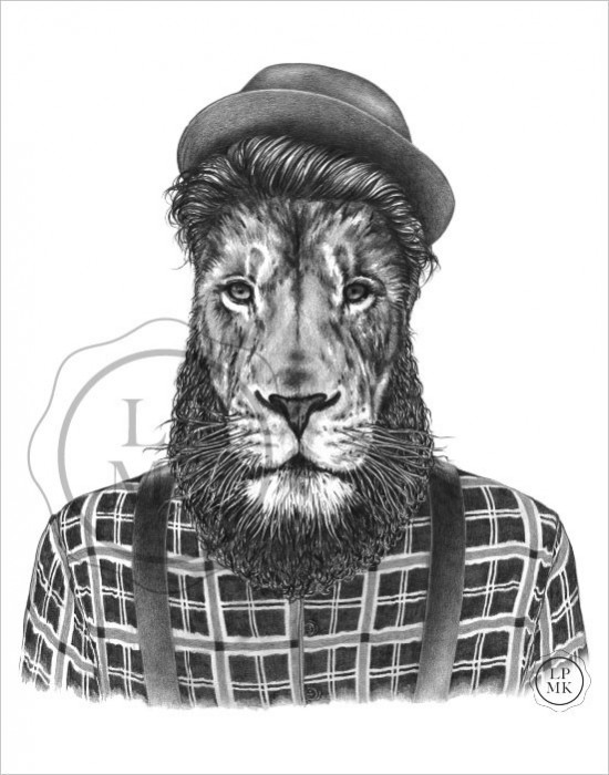 Lion hipster - photo#39