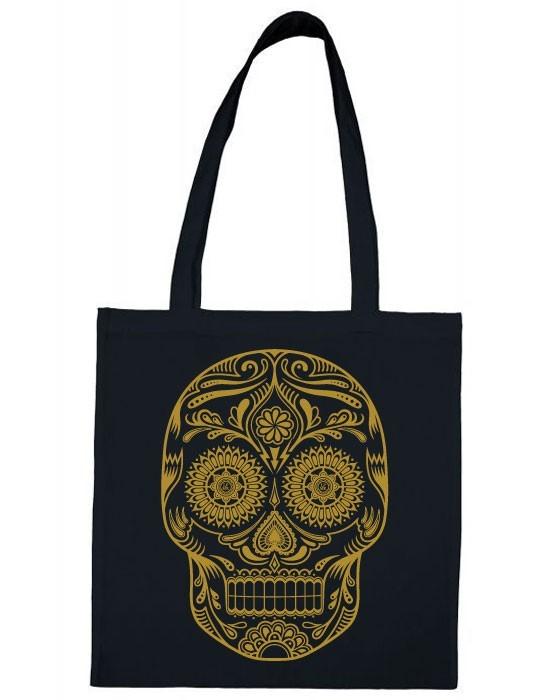 Tote Bag Golden Skull