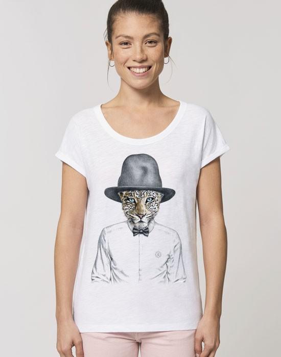 T-Shirt Col Bateau Happy