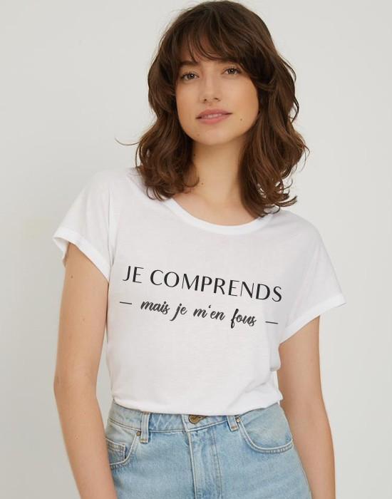 T-Shirt Col Bateau Je Comprends
