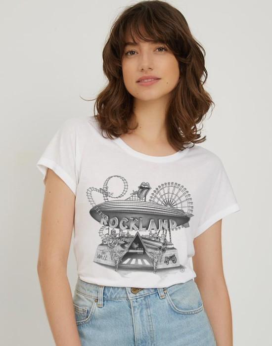 T-Shirt Col Bateau Rock Land