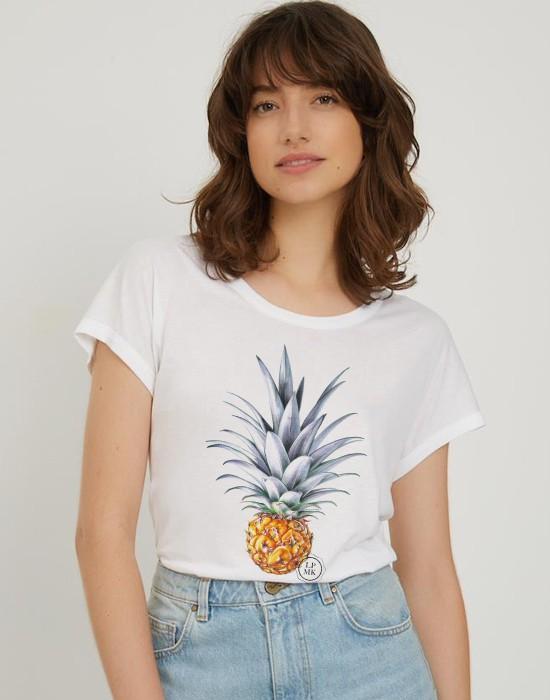 T-Shirt Col Bateau Ananas
