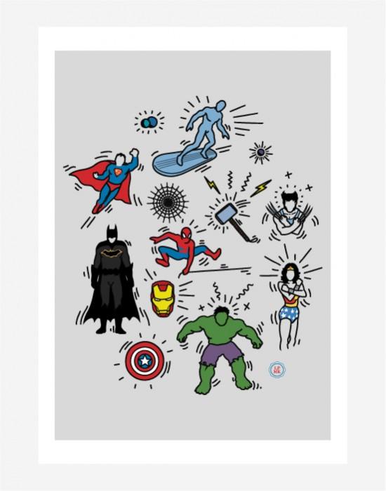 Poster Pop Art Heroes
