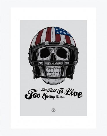 Poster American Football Skull