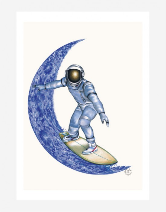 Poster Moon Surfer