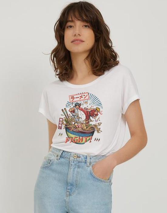 T-Shirt Col Bateau Noodle Fighter
