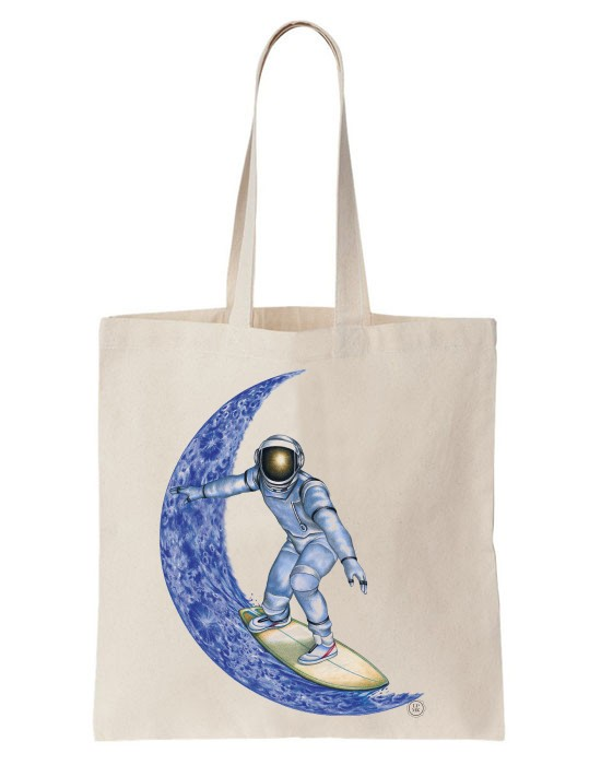 Tote Bag Moon Surfer