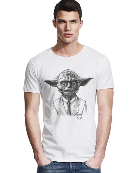 T-Shirt Col Large Yoda