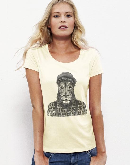 T-Shirt Lion Hipster